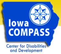 Iowa compass center for disabilities and development logo
