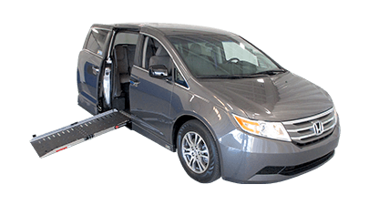 Silver honda handicap van with side entry conversion