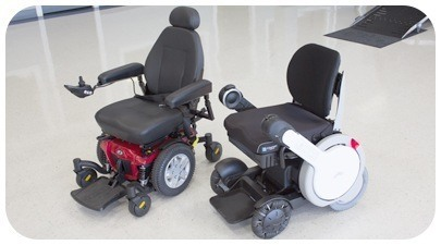 Wheelchairs on floor